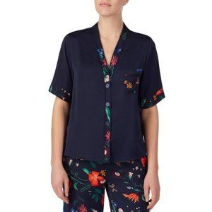 Room Service Floral Button Down Pajama Top